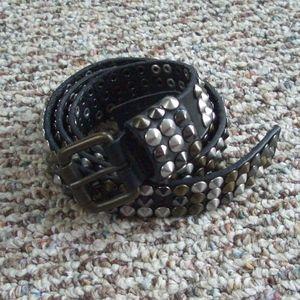 Liebeskind Berlin black studded leather belt S 85